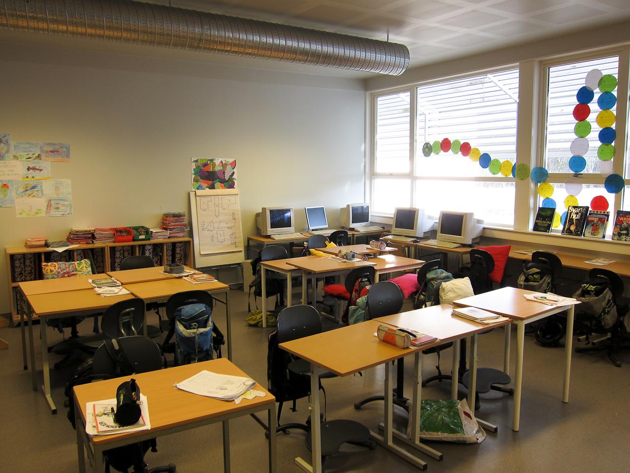 Et vanlig klasserom
